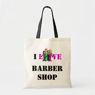 I Love Barbershop Tote Bag