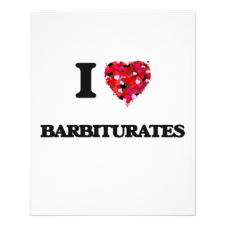 I Love Barbiturates 11.5 Cm X 14 Cm Flyer