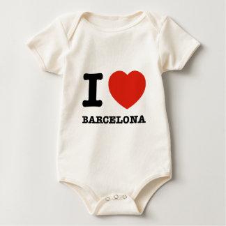 I Love Barcelona Baby Bodysuit