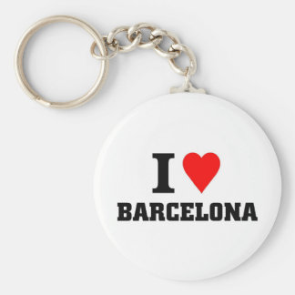 I love barcelona basic round button key ring