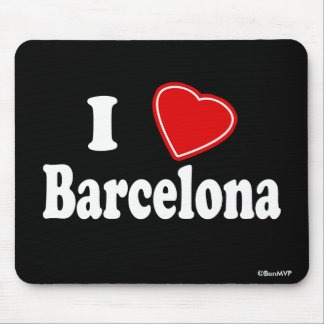 I Love Barcelona Mouse Pad