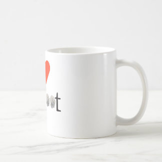 I Love Barefoot Hooves - Mug