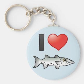 I Love Barracuda Keychain