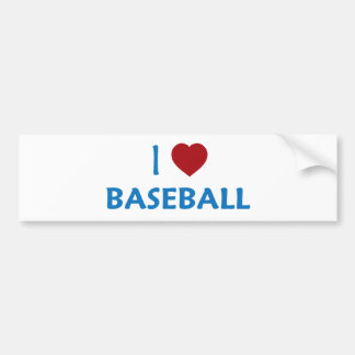 I Love Baseball Bumper Sticker