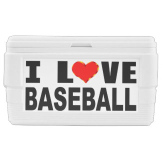 I Love Baseball Chest Cooler