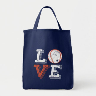 I Love Baseball for Sports Player and Fan Tote Bag