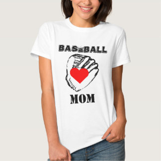 I Love Baseball Mom T-shirt