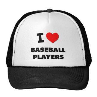 I Love Baseball Players Trucker Hats