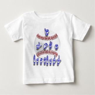 I Love Baseball - Sign language Baby T-Shirt