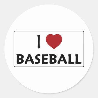 I Love Baseball Stickers