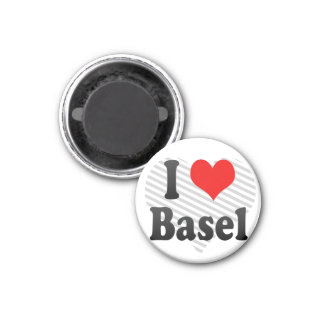 I Love Basel, Switzerland 3 Cm Round Magnet