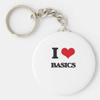 I Love Basics Keychain
