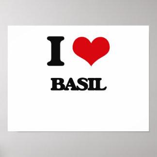 I Love Basil Print