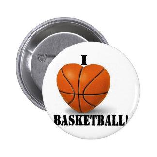 I Love Basketball 6 Cm Round Badge