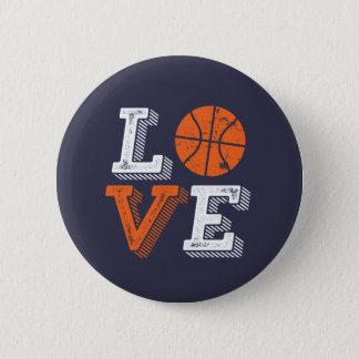 I Love Basketball Sports Games Fan 6 Cm Round Badge