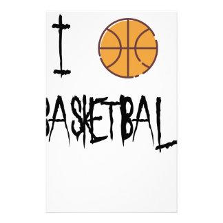 I Love Basketball Stationery