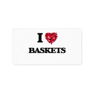 I Love Baskets Address Label