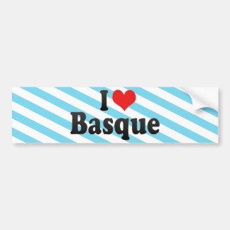 I Love Basque Bumper Sticker