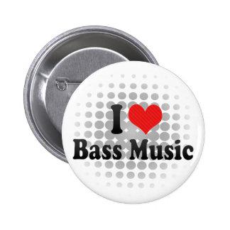 I Love Bass Music Pin