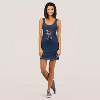 I Love Bass T Shirt Dress