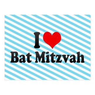 I love Bat Mitzvah Post Card