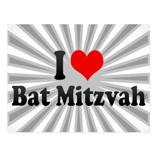 I love Bat Mitzvah Post Cards