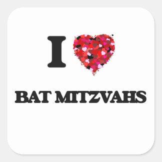 I Love Bat Mitzvahs Square Sticker