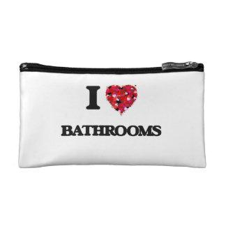 I love Bathrooms Cosmetics Bags