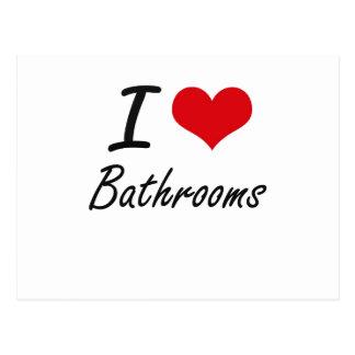 I love Bathrooms Postcard