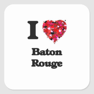 I love Baton Rouge Louisiana Square Sticker
