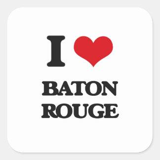 I love Baton Rouge Square Sticker