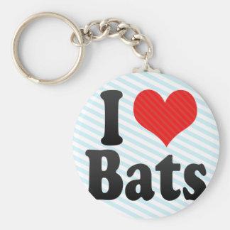 I Love Bats Keychain