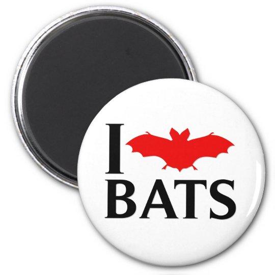 I Love Bats Magnet