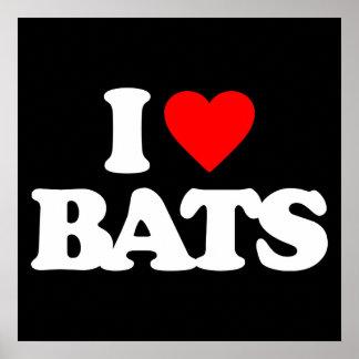 I LOVE BATS PRINT