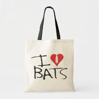 I love bats tote bage