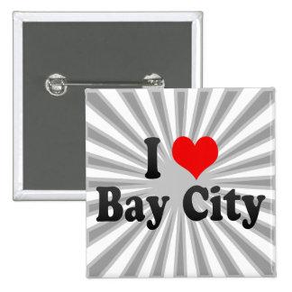 I Love Bay City United States Button