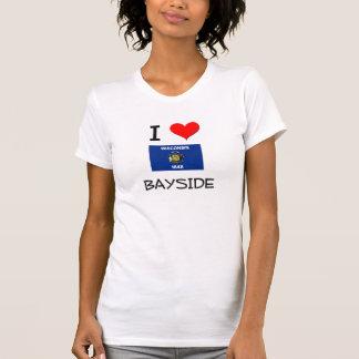 I Love Bayside Wisconsin Tee Shirts