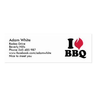 I love BBQ - Barbecue Business Cards
