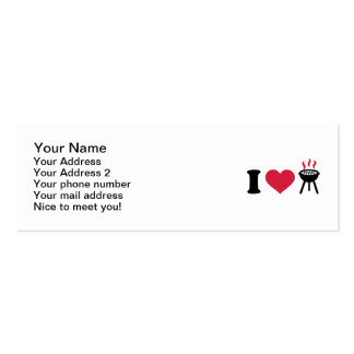 I love BBQ barbecue Pack Of Skinny Business Cards