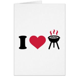 I love BBQ barbecue Greeting Card