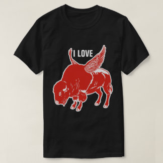 I Love BBQ Buffalo Wings T-Shirt