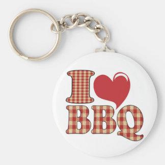 I Love BBQ Key Ring