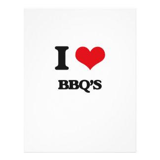 I Love Bbq'S Full Color Flyer