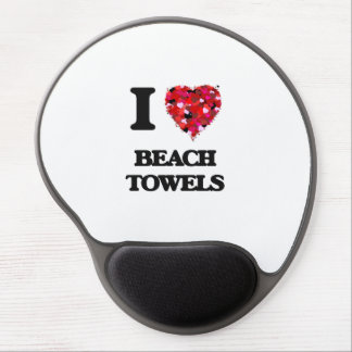 I Love Beach Towels Gel Mouse Pad