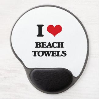 I Love Beach Towels Gel Mousepad