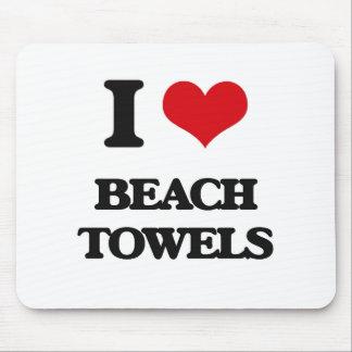 I Love Beach Towels Mouse Pad