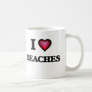 I Love Beaches Coffee Mug