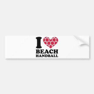 I love Beachhandball Bumper Sticker