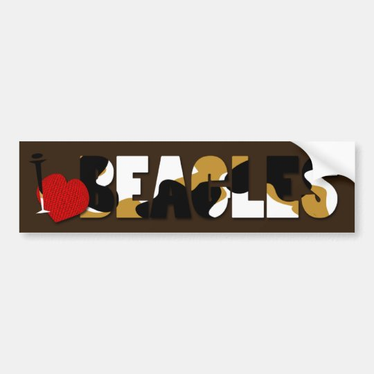I Love Beagles Bumper Sticker