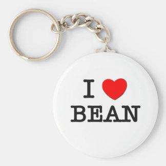I Love Bean Key Ring